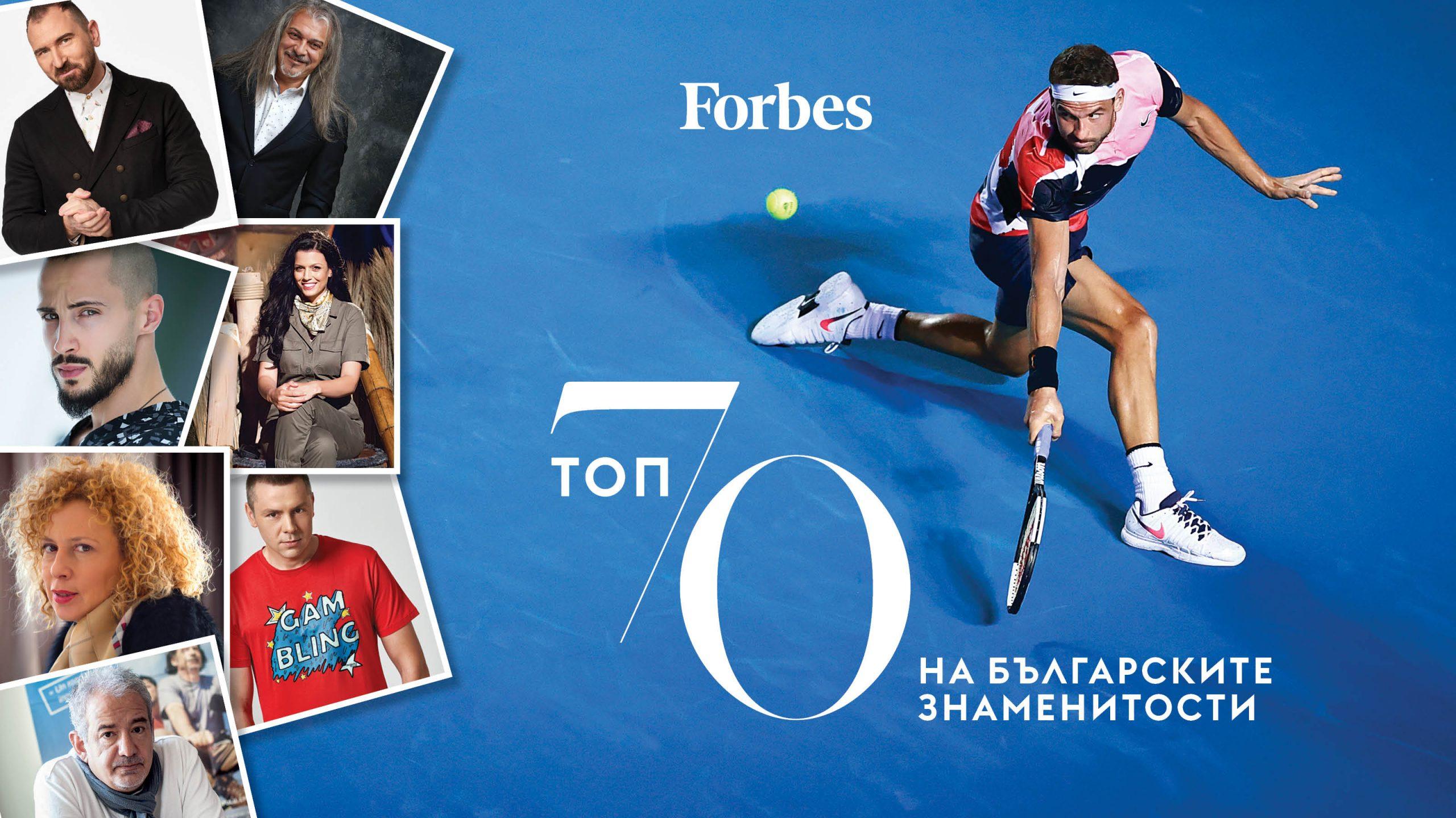 Топ 70 на българските знаменитости